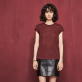 Maje T-shirt with dotted Swiss details
