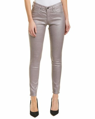 AG Jeans Women's Legging Anke Metallic Leatherette Pants