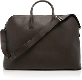Valextra Leather Weekender Shoulder Bag