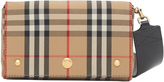 Burberry Hackberry Check Canvas Crossbody Bag