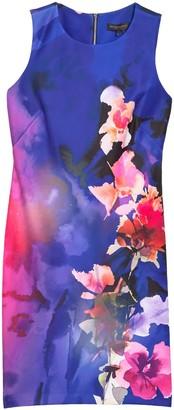 DKNY Floral Print Sheath Dress