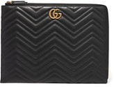 Gucci Quilted Leather Laptop Case - Black