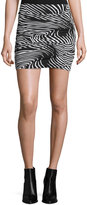T-Bags LosAngeles T Bags Graphic-Print Ruched Mini Skirt, Black