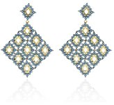 Noir Plateau Earrings Blue / 14kt Gold Plated Size Os