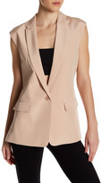 Tibi Seleste Silk Suiting Vest