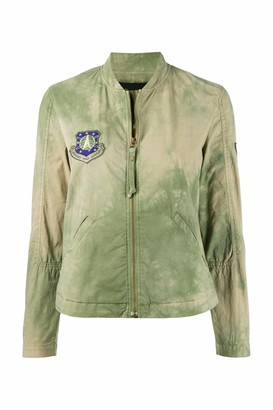 Mr & Mrs Italy Mud Green Bomber For Woman