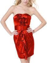 Strapless Ruffle Front Dress W/Belt