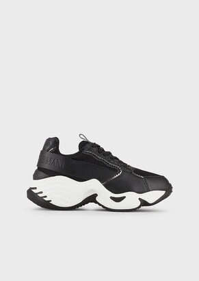 Emporio Armani Chunky Sneakers With Monogram Details