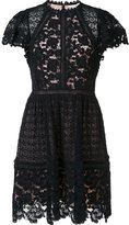 Rebecca Taylor floral lace pleated skirt dress