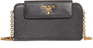 Prada Saffiano Leather Wallet on a Chain