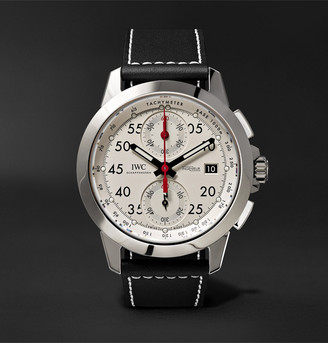 Ingenieur Automatic Chronograph Sport 44.3mm Titanium And Leather Watch, Ref. No. Iw380902