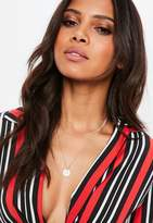 Missguided Rose Gold 2 Layered Chain Necklace