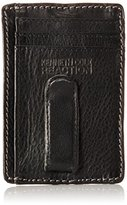Kenneth Cole Reaction Men's Leather Slim Card Case with Money Clip