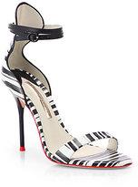 Webster Sophia Nicole Striped Leather Sandals