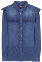 7 For All Mankind Ruffled Cotton Shirt