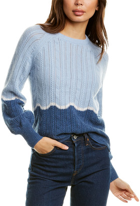 Design History Colorblock Pointelle Cashmere Sweater