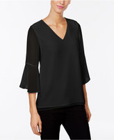 Calvin Klein Bell-Sleeve V-Neck Top