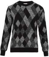 Saint Laurent Geometric-intarsia Mohair-blend Sweater