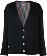 Thom Browne rear crab patch cardigan - women - Silk/Cashmere - 40