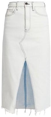 3x1 Elizabella Cut-Out Denim Skirt