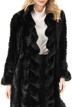 Fabulous Furs Broadtail Faux-Fur Stroller Coat