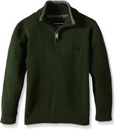 Calvin Klein Little Boys' Scalar Half Zip Sweater