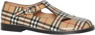 Burberry Hannie Vintage Check T-Strap Mary Jane Flat