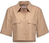 Equipment Signature Cropped Cotton Shirt