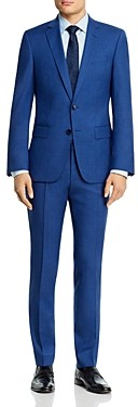 BOSS Huge/Genius Micro-Houndstooth Slim Fit Suit