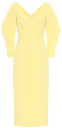 Emilia Wickstead Calla wool crApe midi dress