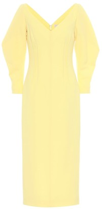 Emilia Wickstead Calla wool crepe midi dress