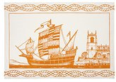 Thomas Paul Spanish Ship Tea Towel, 20 by 28""