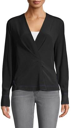 Rag & Bone Shields Silk Wrap Shirt