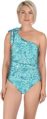 Carole Hochman Tie Asymmetrical One-Piece Swimsuit