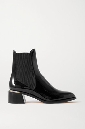 Jimmy Choo Rourke 45 Embellished Patent-leather Chelsea Boots - Black