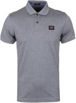 Paul & Shark Grey Marl Short Sleeve Shark Fit Polo Shirt