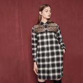Maje Shirt dress with lace details