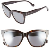 Balenciaga Women's 55Mm Sunglasses - Black/ Red Horn/ Gradient Smke