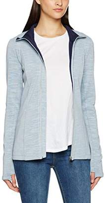 Bench Women's Long Zip Jacket Cardigan, (Dark Sky Blue), (Size:Medium)
