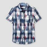 Cat & Jack Boys' Short Sleeve Button Down Shirt Cat & Jack - Navy