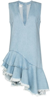 Marques Almeida Asymmetric Denim Dress