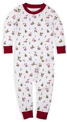 Kissy Kissy Baby's Here Comes Santa Claus Two-Piece Top & Pants Pajama Set