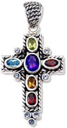 Samuel B. Sterling Silver Multi Gemstone Cross Pendant