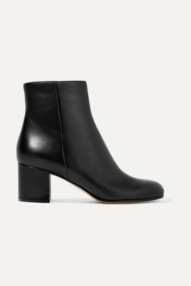 Gianvito Rossi Margaux 60 Leather Ankle Boots - Black