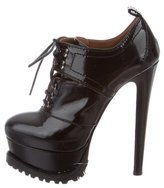 Alaia Leather Platform Booties