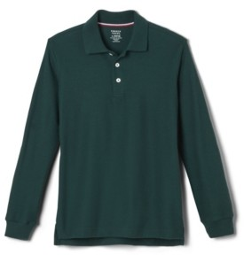 French Toast Big Boys Long Sleeve Pique Polo Shirt