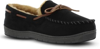 Van Heusen Men's Microsuede Moccasin Slippers