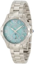 Invicta Women's 10221 Angel Diamond Accented Light Green Mother-Of-Pearl Dial Stainless Steel Watch