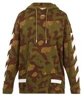 Off-White Camouflage-print hooded cotton sweatshirt