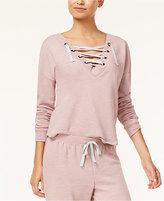 Ultra Flirt Juniors' Convertible Lace-Up Sweatshirt